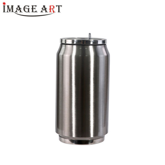 280ml Sublimation Double Wall Vacuum Cola Can Shaped Water Bottle (Silver)