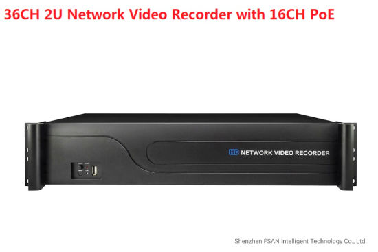 Fsan 36CH Full Real-Time Network Video Recorder with 16CH Poe 2u NVR