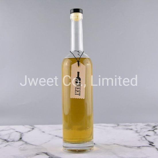 Fancy Custom Tall Round Spirits Glass Bottle 750ml Capacity