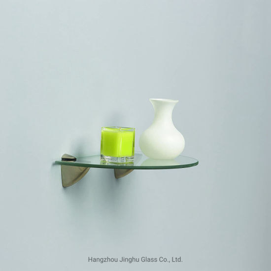 Jinghu Glass 6mm 8mm Tempered Glass Shelf for Bathroom/Home Decoration