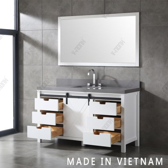 Single Sink White Bathroom Cabinet, What Size Mirror Goes With A 48 Inch Vanity