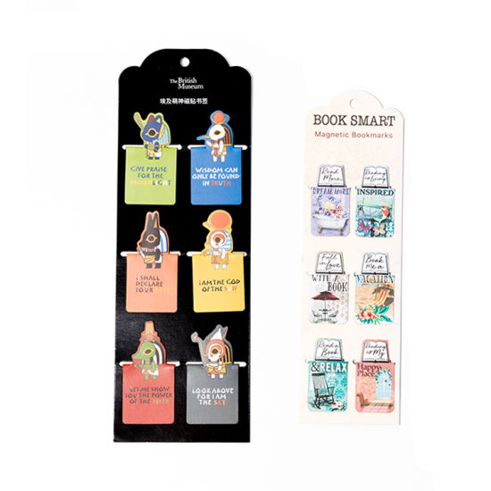 Factory Wholesale Personalized Custom Metal Crafts Cute Magnetic Bookmarks