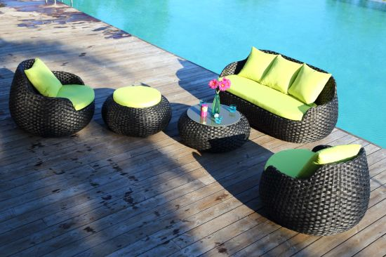New Arrive High Quality Outdoor Garden Rattan Furnitures Weave Round Shape