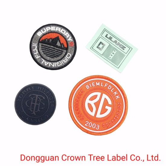 Silk-Screen Printing Woven Patch Can Iron on Clothing for Garment Accessories Decoration