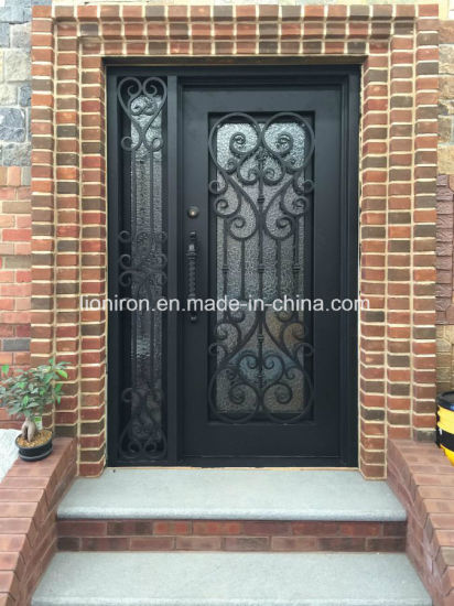 China Square Top Iron Single Entry Door Design For House China