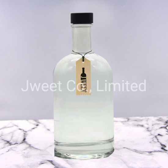 500ml Transparent Brandy Alcoholic Glass Bottle with Rubber Stopper