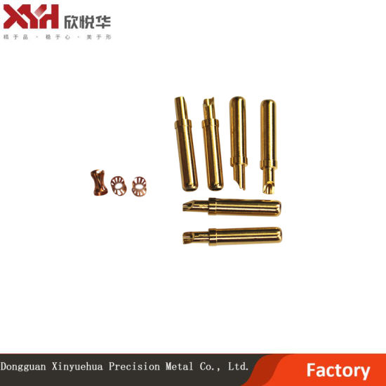 1.5*18 Gold-Plated Waterproof Wiring Terminal with Crown Spring Socket for Medical Wire