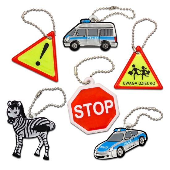 Custom Reflective PVC Hangers Pendant Keychain for Promotion pictures & photos