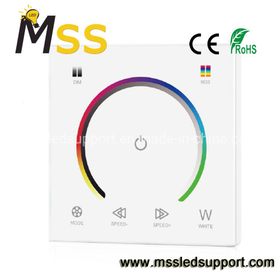Smart RGB RGBW LED Touch Panel Controller, Wall-Mounted LED Dimmer for LED Strip Light