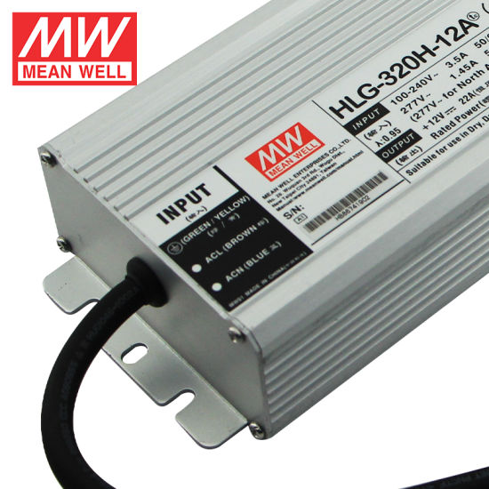 22A MeanWell HLG-320H-12 INPUT 100-240VAC  3.5A 12V 277VAC 1.45A OUTPUT -