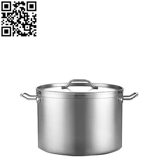 Stainless Steel Stock Pot with Straight Body Shape and Thickening Thickness pictures & photos