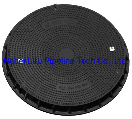 High Quality C250 D400 SMC Watertight Round Manhole Cover Waterproof Composite Square Manhole Cover and Frame for Telecom