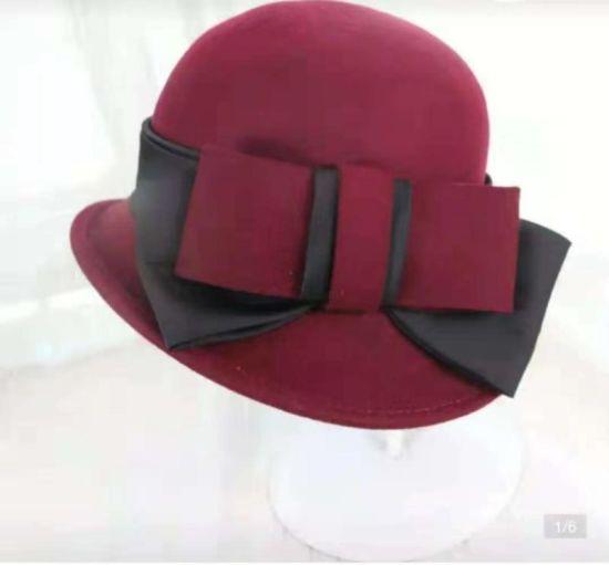 High Quality 100% Australia Wool Felt Women Cloche Hat with Different Designs