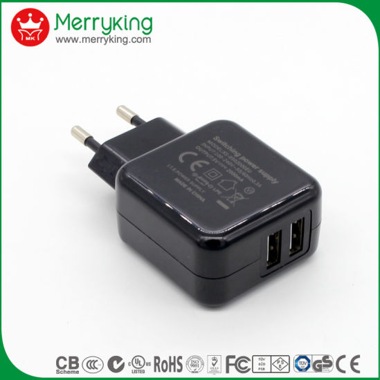 China Wall Plug Adapter 5V 2A USB Charger for RC Helicopter - China