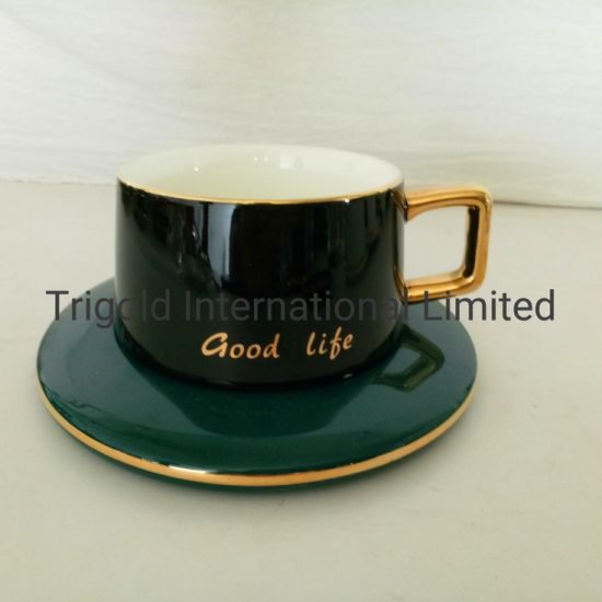 Popular Ceramic Tea Cup with Saucer Coffee Cup with Saucer