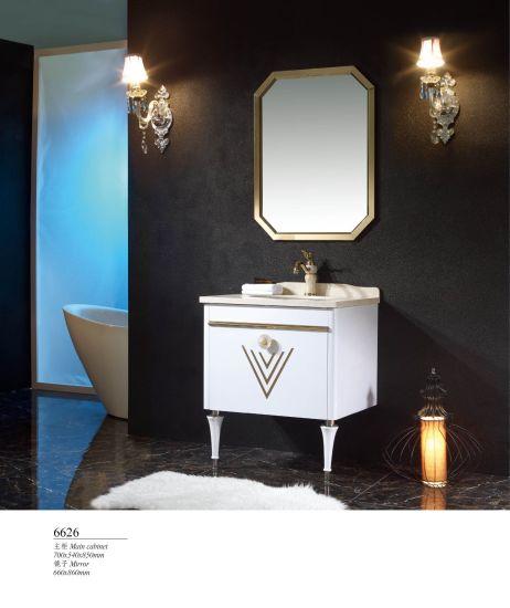 Stainless Steel Metal Bathroom Modern Home Furniture Storage Vanities Cabinets