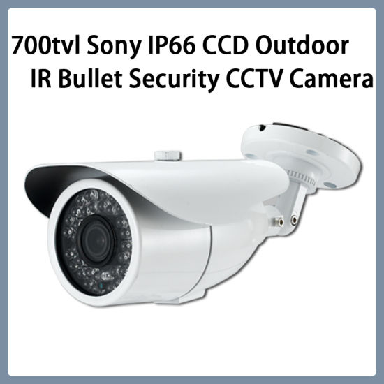 Surveillance 700tvl Sony IP66 CCD Outdoor IR Bullet Security CCTV Camera pictures & photos