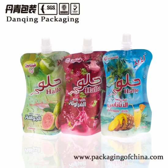 China Export Abroad Flexible Packaging Spout Pouch for Beverage Pack (DQ0038) pictures & photos