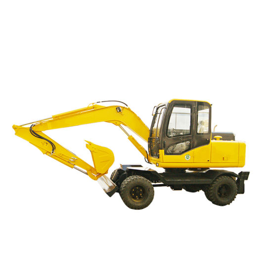8 Tons Wheeled Hydraulic Excavator for Construction