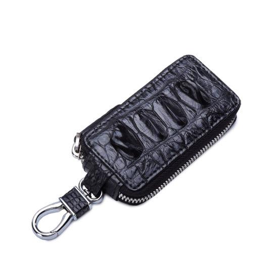 China Luxury Car Key Case Crocodile Genuine Leather Key Holder