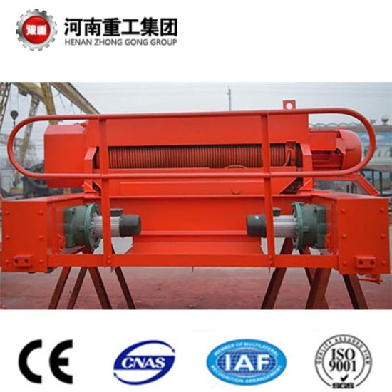 Heavy Duty Double Girder Trolley Traveling Overhead/Bridge Crane with Hook/Grab pictures & photos