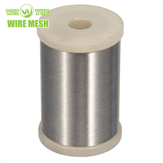 Ultra Thin 316L 0.04 mm Bright Annealed Stainless Steel Weaving Wires/Sewing Thread Used for Cut Resistant Gloves