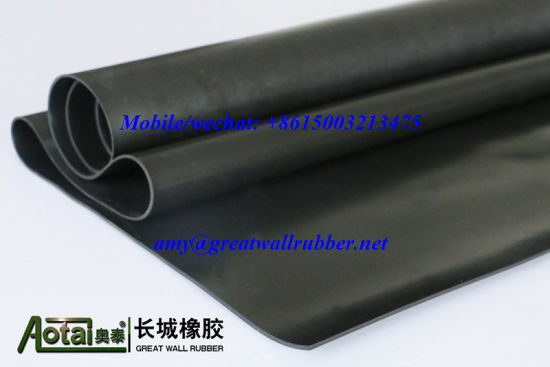 Cloth Impressed Finish EPDM/Neoprene/SBR Rubber Sheet with Fabric Insertion pictures & photos