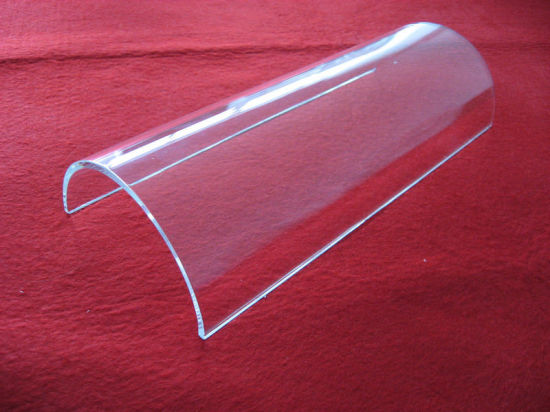 Further Processing BBQ Polishing Clear Half Quartz Glass Tube pictures & photos