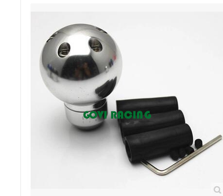 Silver Car transmission Gear Knob Manual Aluminum Universal