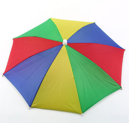 c2fdb3c142ca5 Umbrella Hat Multi Color Foldable Outdoors Headband Cap Sun Golf Fishing  Camping