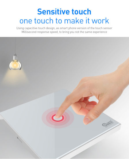 Z-Wave Plus 1CH EU Wall Light Switch Home Automation Z-Wave Wireless Smart Remote Control Light Switch