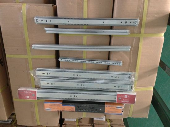 3 Section Heavy Duty Drawer Guide Rail Furniture Bearing Track for Cabinet Hardware pictures & photos