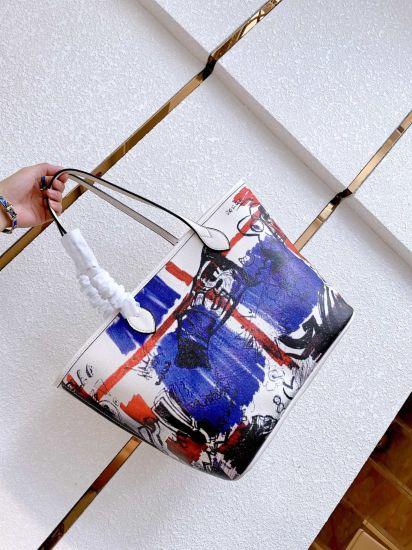 Fashion PU Leather Marble Clutch Purses Purple Designers Woman Handbag