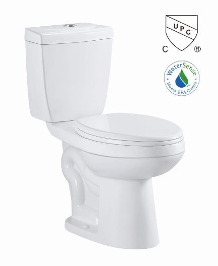 Cupc Siphon Two Piece S-Trap Water Save Ceramic Toilet