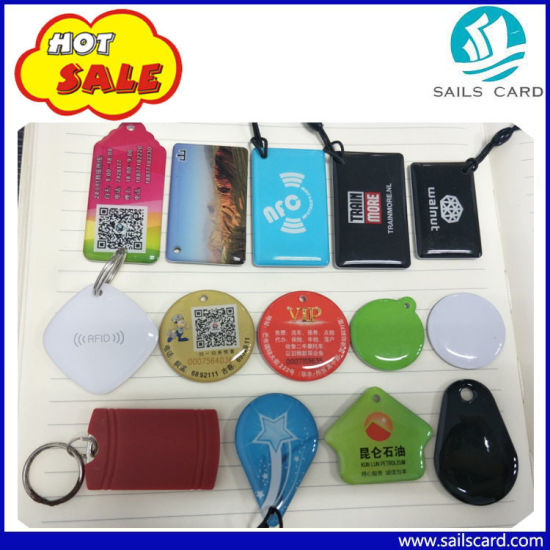 High Quality Plastic 125kHz Chips RFID Crystal Key Tag pictures & photos