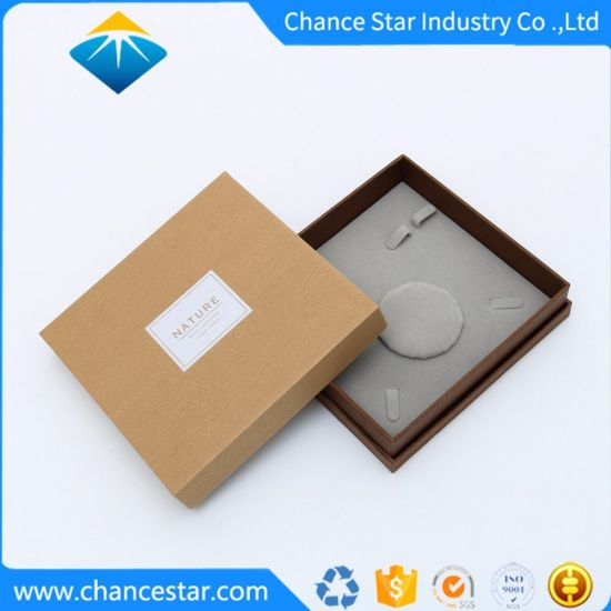 Custom Natural Brown Paper Cardboard Rigid Jewelry Gift Packaging Box
