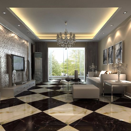 China Supermarket Azuvi Super Glossy White Polished Porcelain Floor