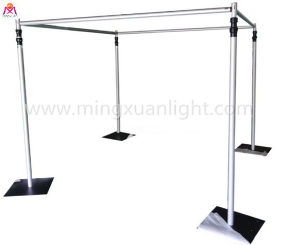 Stage Backdrop Stand Adjustable Pipe Drape Double Crossbar