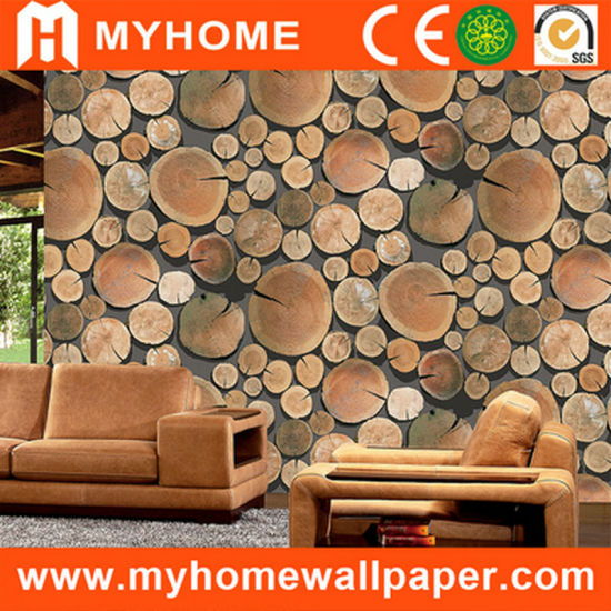 Latest Design 3D Wood Wallpaper for Wall Decoration
