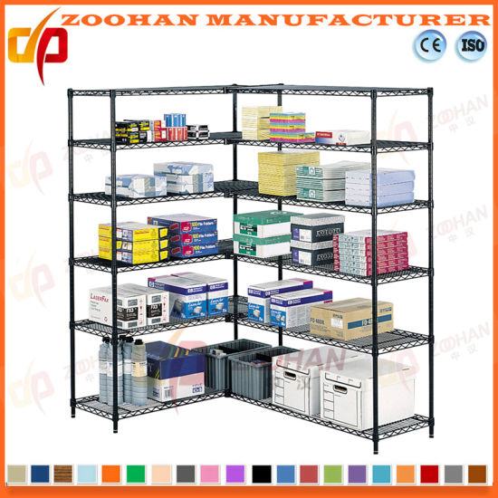 Adjustable Home and Office Corner Wire Shelving Rack (Zhw26)