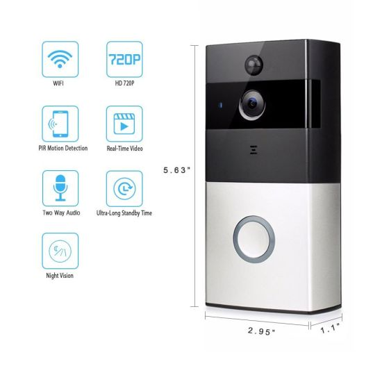 CCTV Camera Wireless WiFi Video Doorbell Support Apple Android Viedo Doorbell pictures & photos