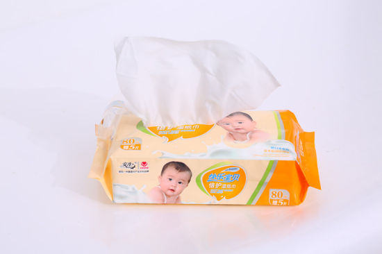 Orgnic Cotton Non-Woven Sensitive Newborns and Babies Wipes pictures & photos