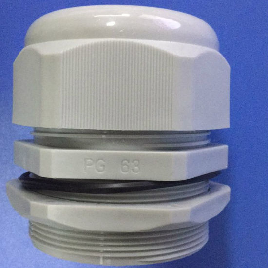 White Pg63 Waterproof Nylon Cable Gland pictures & photos