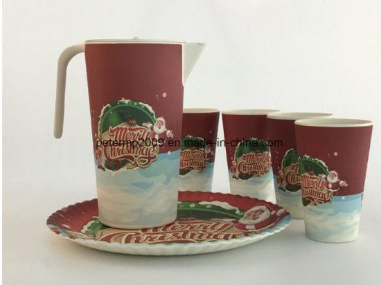 Wholesale Christmas 2017 Promotional Bamboo Fiber Coffee Mug Cup