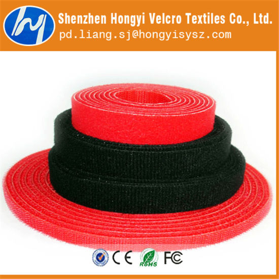 Customized Hook & Loop Red Side by Side Cable Tie