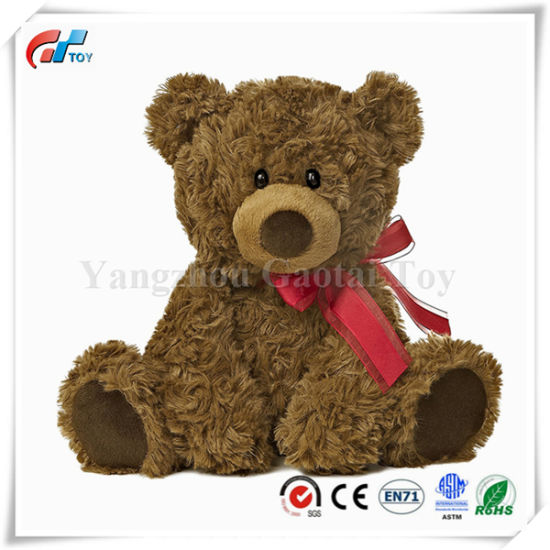 Plush Toys Teddy Bear with Ribbon & Heart for Valentine's Day