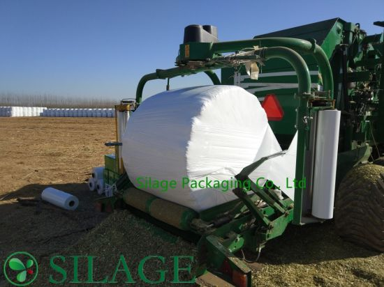 750mm*1500m*25mic Blown Silage Wrap Film White Color European Standard pictures & photos