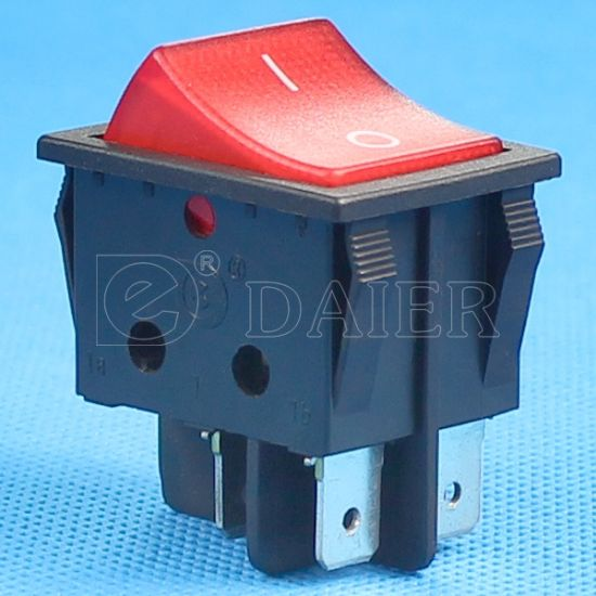 CQC Illuminated T125 Rocker Switch Plasitic Electrical Rocker Switch pictures & photos