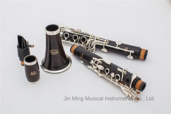 Wooden Professional 17 Key Tone Bb Clarinet, OEM Logo