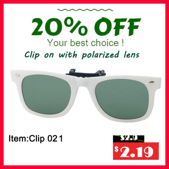 Polarized 3D Clip-on Eyewear Glasses Optical Sun Shield pictures & photos
